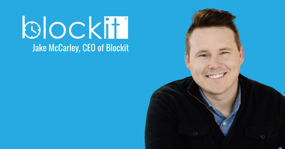 Jake McCarley, CEO of Blockit